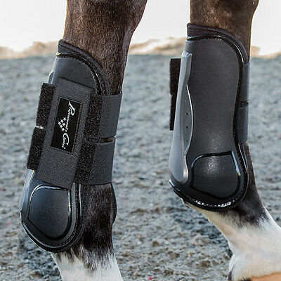 Professional Choice Pro Performance Open Front Show Jump Horse Tendon Boot Black