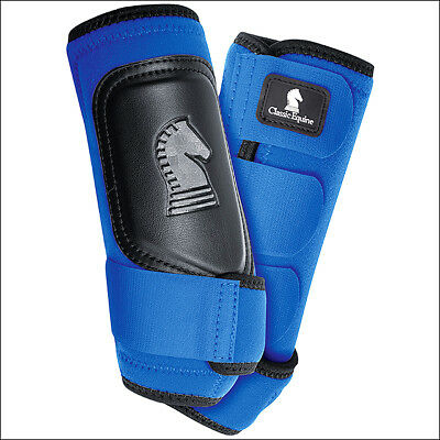 Small Classic Equine Classicfit Neoprene Horse Hind Leg Boots Pair Blue