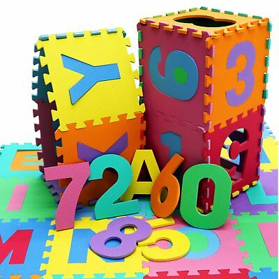 NEW! Extra Large 36pc Interlocking EVA Kids Floor Play Mat Alphabet and Numbers