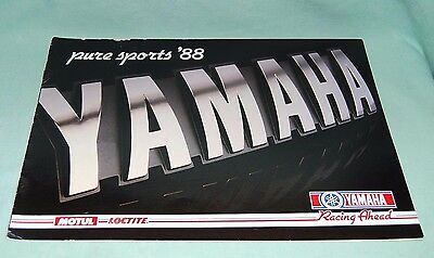 Yamaha PURE SPORTS 88  Motorbike Sales Brochure 1980's