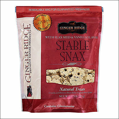 GINGER RIDGE EQUINE HORSE PONIES CRUNCHY BISCUITS TREAT STABLE SNAX 1.75 lbs