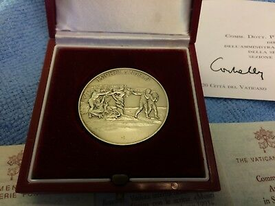 Musei Vaticani Sterling Silver Art Medal Vatican Museums New Mint in Box 1993