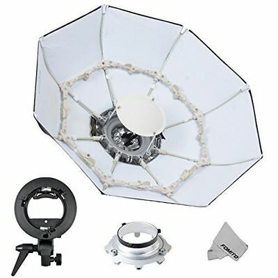 Fomito Foldable Beauty Dish Softbox with Bowens Mount inner White