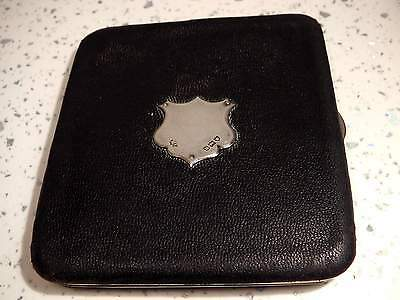 Antique 1915 London hallmarked Sterling Silver Mounted Leather Card Money Wallet