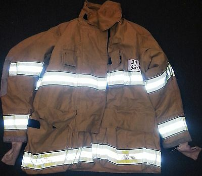 52x35 Firefighter Jacket Coat Bunker Fire Turn Out Gear Globe Gxtreme  J418