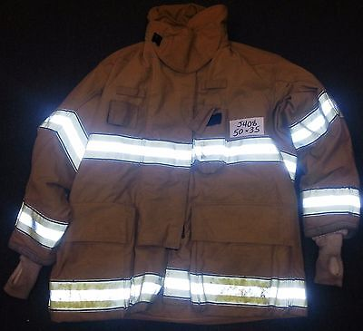 50x35 Firefighter Jacket Coat Bunker Fire Turn Out Gear Globe Gxtreme  J408