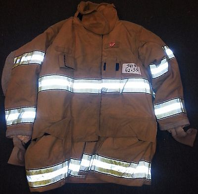 42x35 Firefighter Jacket Coat Bunker Fire Turn Out Gear Globe Gxtreme  J413