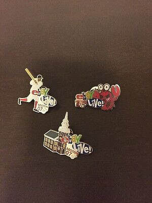 3 eBay Live! Boston 2007 Trading Pins Baseball Old State House Lobster Charity
