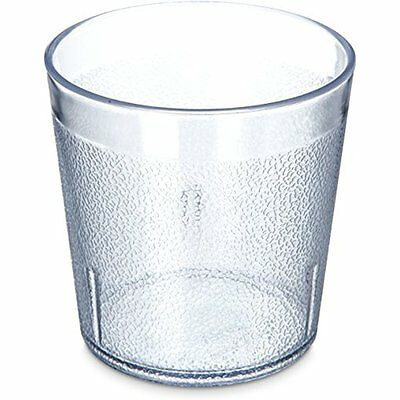 5529-8107 Stackable Shatter-Resistant Plastic Tumblers Tumbler, Oz., Clear (Pack