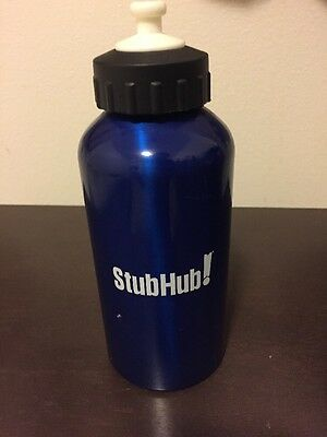 StubHub Blue Metal Water Bottle Small New 100% For charity