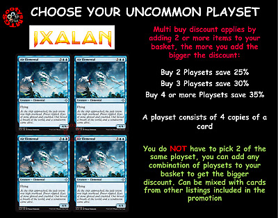 MTG Ixalan XLN Choose your Uncommon Playset (x 4 cards) New - Buy 2 Save 15%