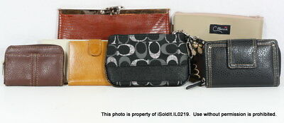 7-PC Coach Wristlet, Etra Evening Bag, Leather Wallets, Cosmetic Case, Checkbook