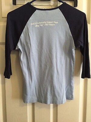 eBay Live! Boston 2007 trading pins Coin Shirt Women's Medium 100% for charity
