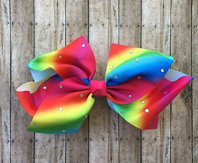 BACKORDER- Ships 11/1/2017 Big 8 inch Jojo style bow - Sequin Hair Bow
