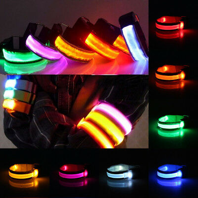 Colorful Reflective LED Light Arm Strap Belt Armband For Night Running Cycling