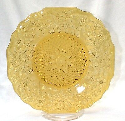 """Pineapple & Floral 618 Amber TWO 9"""" Plates Depression"""