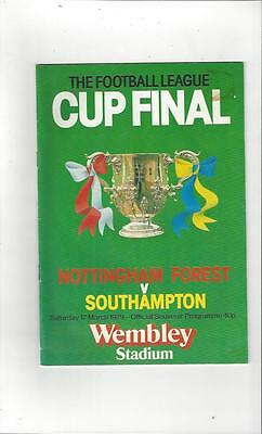 Nottingham Forest v Southampton League Cup Final 1979 Football Programme