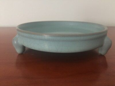 Ming or Qing Rare Old Chinese kiln Celadon Porcelain Brush Washer