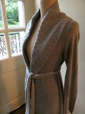 DKNY Donna Karen Long Grey Knitted wrap Cardigan M