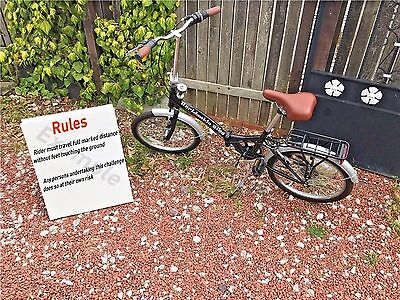 Foldable Unrideable Bike Business Opportunity Or Just For Fun *OFFERS WELCOME*