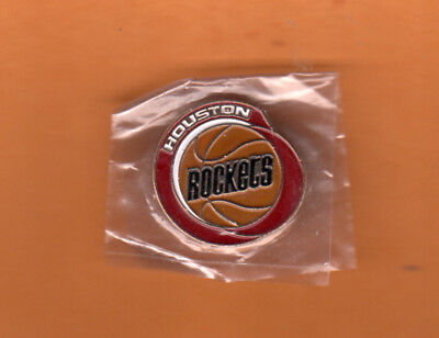 1980's HOUSTON ROCKETS OLD LOGO LAPEL PIN UNSOLD CONCESSIONS Still in package