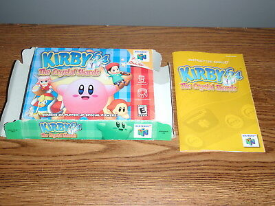 Kirby 64 The Crystal Shards Nintendo 64 Box Manual Only No Game