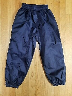 Augusta navy blue nylon athletic wind pants little boys youth Small 6-8