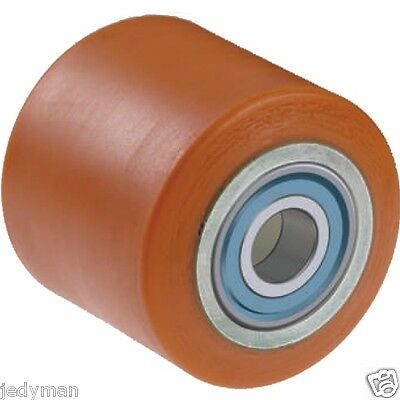 Roller wheels for Pallet trucks mm.80x60 with bearings ball e Polyurethane