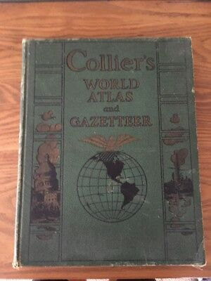 Vintage 1941 Collier's World Atlas and Gazetteer Hard Cover