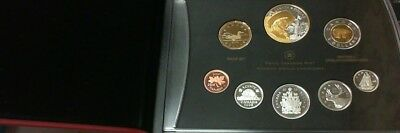 2008 CANADA PROOF DD SET GOLD PLATED DOLLAR 400th ANNIVERSARY QUEBEC CITY