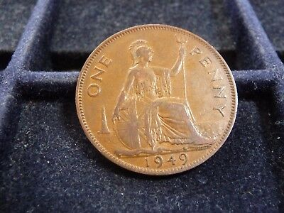 1949 Great Britain Large Penny In Fine Condition M-188