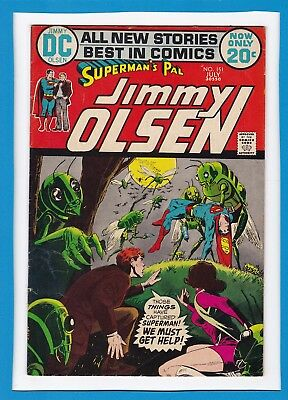 """Superman's Pal Jimmy Olsen #151_July 1972_F/vf_""""attack By The Locust Creatures"""""""