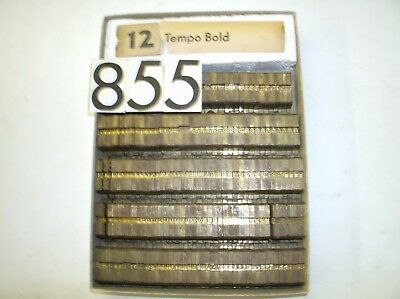 Ludlow Mat 12pt. Tempo Bold (Not Complete) - Sold as is