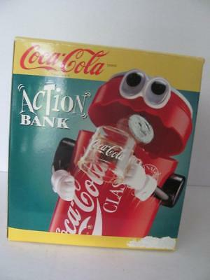 Vintage 1992 Coca Cola Coke Classic Action Bank Coin Flips Into Can