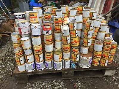 Approx 500 tins of paint and varnish