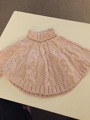 Baby Girls NEXT Pink Poncho Size 6-12 Months - EXCELLENT CONDITION