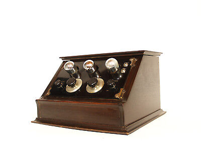 Excellent, Working 1923 Kennedy V Battery Radio w/Good Tubes & Good Transformers