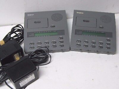 Lot Of Two (2) Dictaphone 3750 Expresswriter Micro Cassette Voice Processor