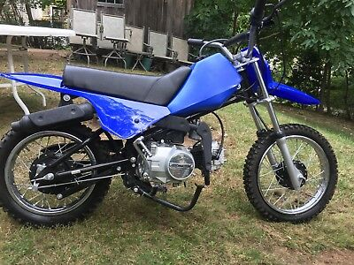 2007 Other Makes 72 cc  Loncin 72cc kids Motorcycle Dirt Bike only used once Blue