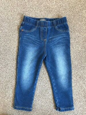 Next Girls Jeans Jeggings, 12-18 Months, Excellent Condition