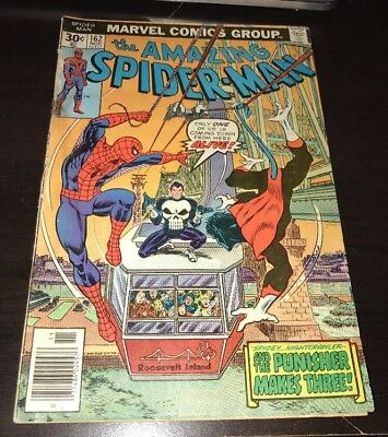 Amazing Spider-Man #162 1st Full Jigsaw Punisher Marvel Comics 1976 KEY Comic