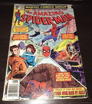 Amazing Spider-Man #195 2nd Black Cat Marvel Bronze Age KEY Comic