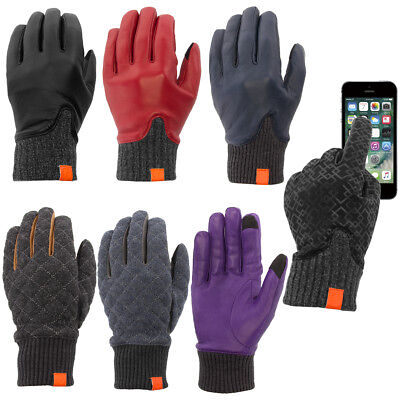 Honns Women's Genuine Leather Gloves Warm Winter Touchscreen Tech Driving Grip