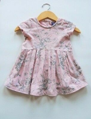Baby Gap Girl's Dress Short Sleeve Pink Floral Pleated Size 18-24 Months babyGap