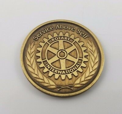 Rotary International The Four-Way Test, Service Above Self Token Coin (New)