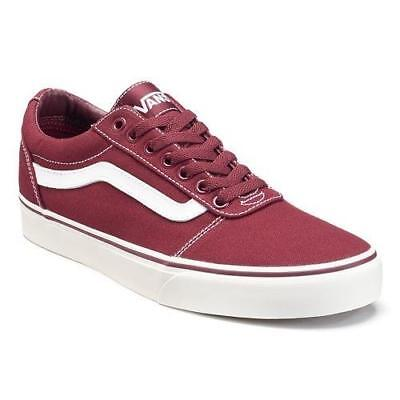 a1089d4bbb29 MEN S VANS WARD Maroon+White Athletic Casual Sneakers Skate Shoes ...