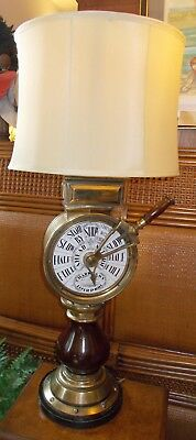 "Rare Chadboam's Brass Ship's Telegraph (Liverpool) 42"" Tall Lamp"
