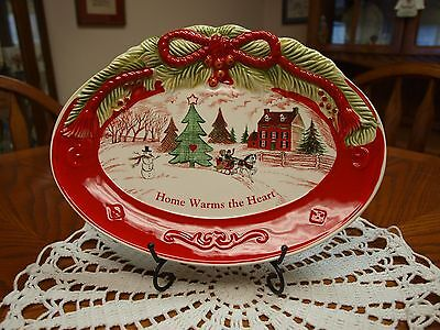 Fitz And Floyd Home Warms The Heart Tray - New In Box