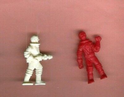 2 Vintage Cracker Jack Astronauts   1950/60's  Plastic    Red + White