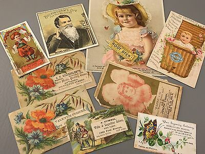Trade Cards HIRES Root Beer BUCKINGHAM DYE New York City Saloon Vtg Antique Lot